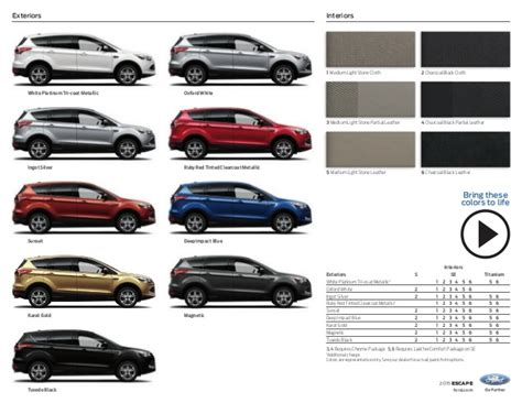 2015 ford escape brochure nm ford dealership