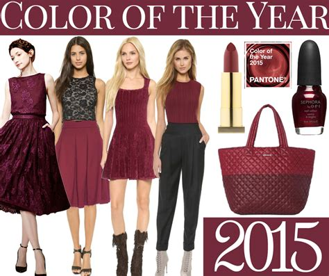 a look at the fashion color of the year for 2014 and 2015