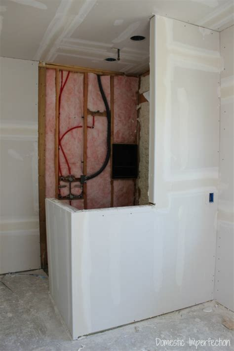 drywall for bathroom shower drywall changes everything domestic imperfection