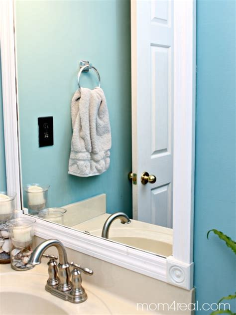 framing your bathroom mirror budget bathroom makeover mom 4 real