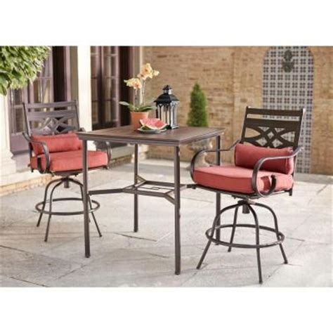 High Patio Dining Set Hton Bay Middletown 3 Motion High Patio Dining Set D11200 3pc The Home Depot