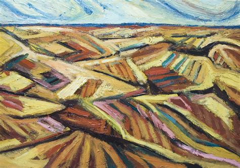 pattern landscape art quot autumn fields before harvest quot new abstract landscape