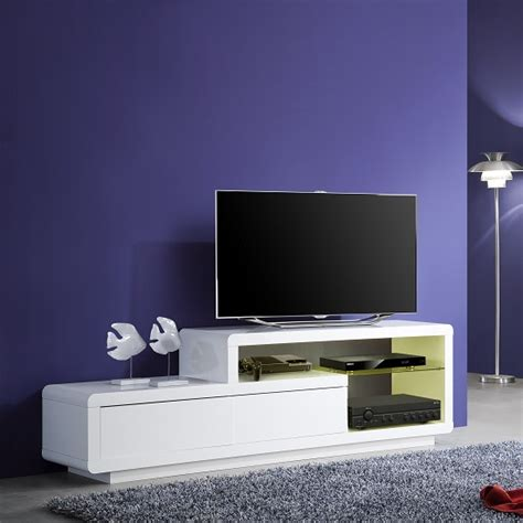 white tv stand with led lights oregon lcd tv stand in white gloss with 2 drawers and led