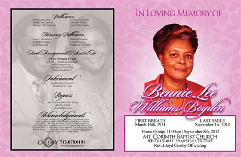 programs barkley memorial funeral home houston texas 77004