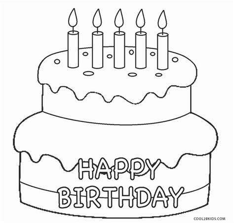 coloring pages birthday cake candles free printable birthday cake coloring pages for kids