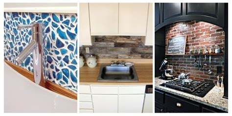 kitchen backsplash diy ideas 15 unique diy kitchen backsplash ideas to personalize your
