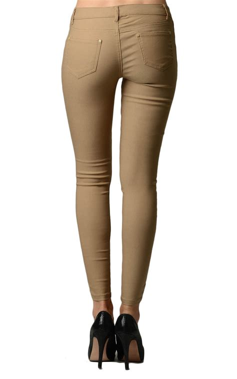 khaki colored khaki colored tight jeggings home goods galore