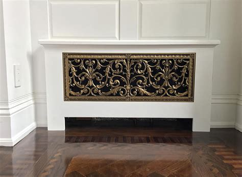 Cover Fireplace radiator covers decorative grilles for radiator covers