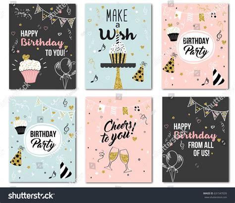 birthday card from all of us template happy birthday you all us cheers stock vector 631547039