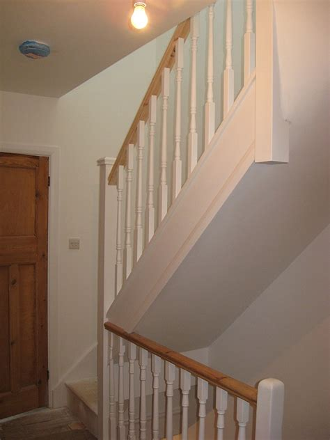Loft Conversion Stairs Design Ideas A Softwood Staircase For A Loft Conversion Painted White With Feature Pine Handrail House