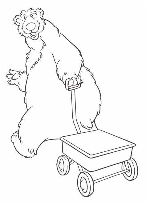 bear in the big blue house coloring pages coloring home