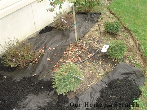 mulching flower beds our home from scratch