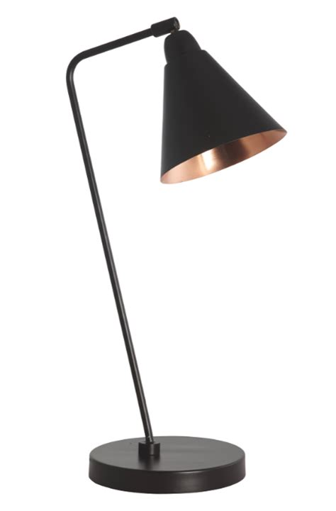 Yellow And Black Kitchen Decor - carter retro industrial black copper table lamp discontinued
