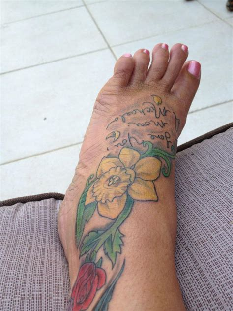 daffodil and rose tattoo daffodil tattoos designs ideas and meaning tattoos for you