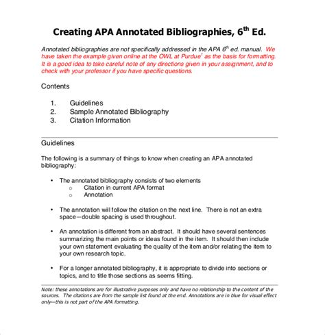 annotated bibliography for science projects