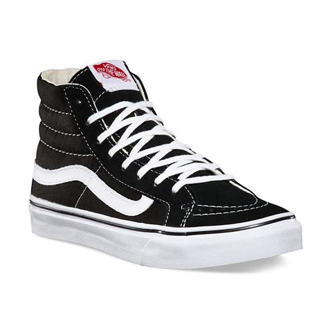 Vans Sk8 Hi Black Waffle Icc2 sk8 hi slim in black true white vans black true white 0qg36bt