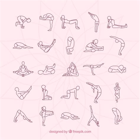 imagenes yoga posturas colecci 243 n posturas de yoga descargar vectores gratis