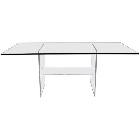 dining room table bases for glass tops lucite base glass top dining table or desk for sale at 1stdibs