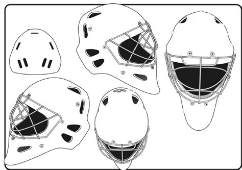 goalie mask template different sides blank hockey mask