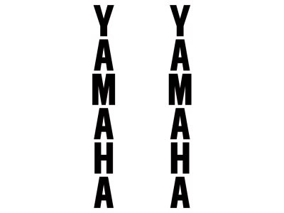 Custom Made Wall Stickers pair yamaha logo vertical eshop stickers