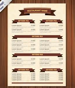 templates for menus free image gallery menu templates