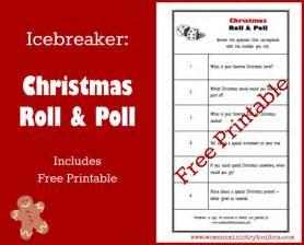 icebreaker christmas roll poll free printable women