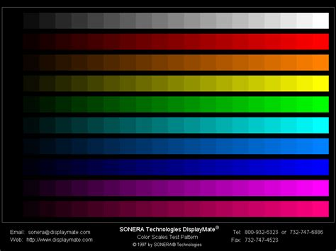 screen color monitor color test images the fox feed