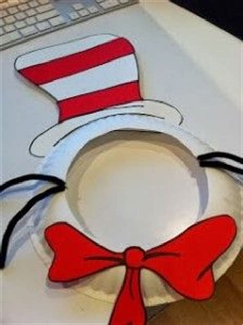 Dr Seuss Paper Plate Craft - cat in the hat dr seuss mask for a reading response