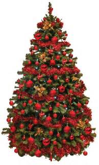 Red christmas tree decorations viewing gallery