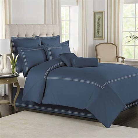 wamsutta comforter sets wamsutta 174 baratta stitch mini comforter set in blue jean