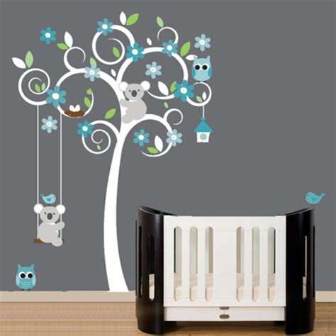 Wall Stickers For Boy Nursery deco chambre bebe garcon gris