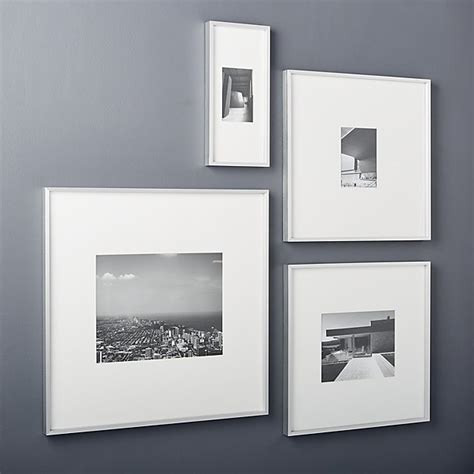 cb2 picture frames gallery brushed silver picture frames cb2