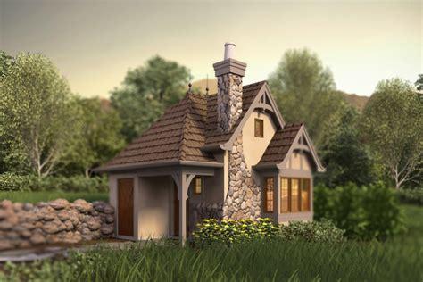 Tudor Style House Plan   1 Beds 1 Baths 300 Sq/Ft Plan #48 641
