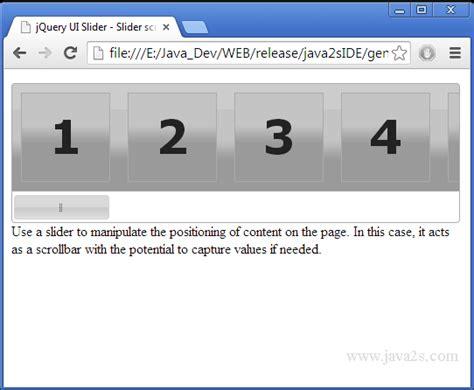 tutorial javascript image slider build jquery ui slider slider scrollbar in javascript