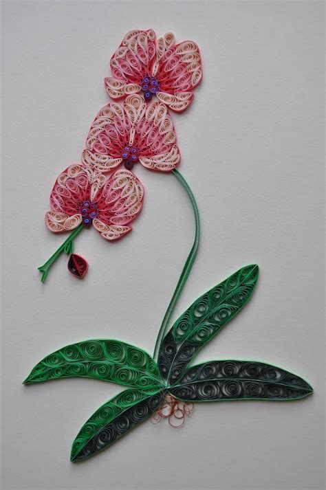 paper quilling orchid tutorial nhipaperquilling paper quilling 4