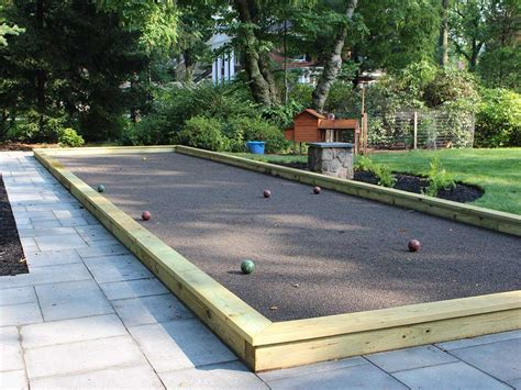 backyard bocce court pittsburgh landscape design backyard bocce ball court