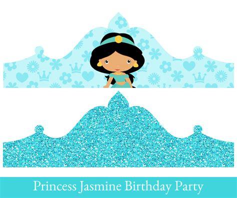 printable belle crown princess jasmine crown printable party crown jasmine crown