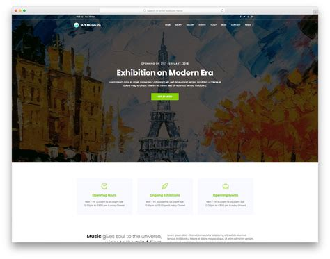 25 Best Free Simple Website Templates For All Famous Niches 2018 Best Templates For Artists