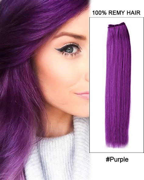 purple remy hair extensions 22 purple weave remy hair weft human hair