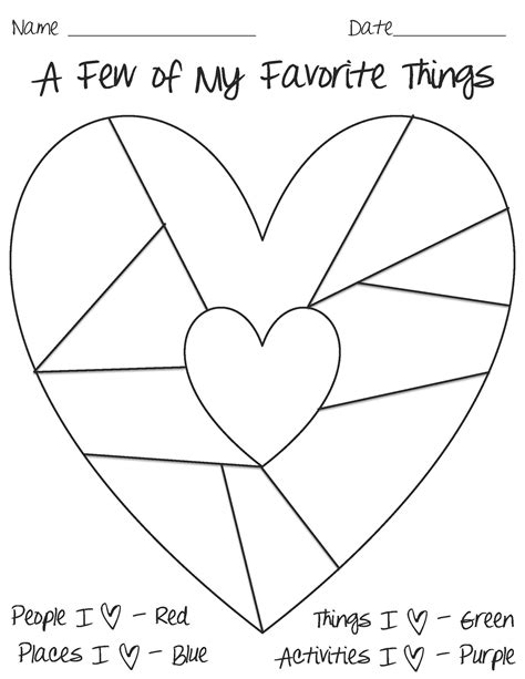 heart map template good resources and ideas for teachers