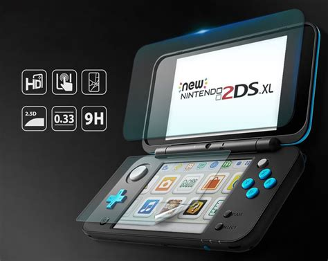 Hori Nintendo New 2ds Xl 9h Tempered Glass Lcd Bottom Screen Cover rearth id glass new nintendo 2ds xl glass screen protectors mobilefun it