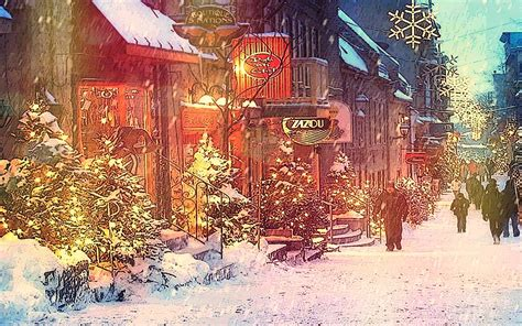 wallpaper christmas city snow in the city wallpaper 65 images