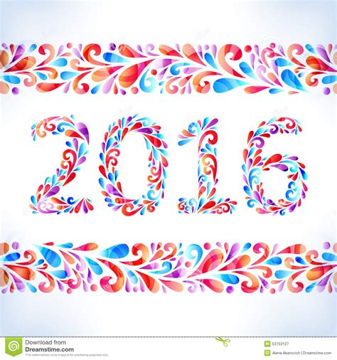 new year card border 2016 happy new year card stock image image of design