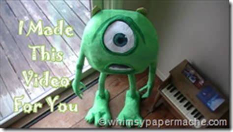 How To Make Paper Mache Monsters - whimsy paper mache how 2 make inc mike with