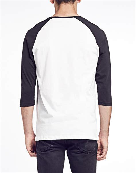 Jaket Vans The Wall Black List White Sweater Hoodie lyst vans sleeve raglan t shirt with logo print white black in white for
