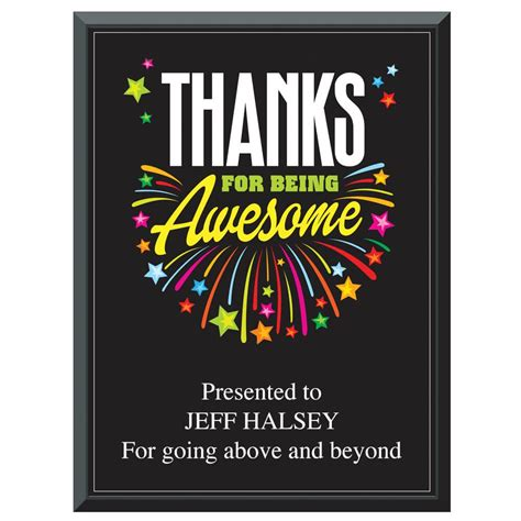 awesome    inspirational award plaque positive promotions