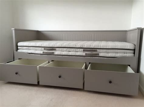 ikea hemnes day bed ikea hemnes grey day bed in shefford bedfordshire gumtree