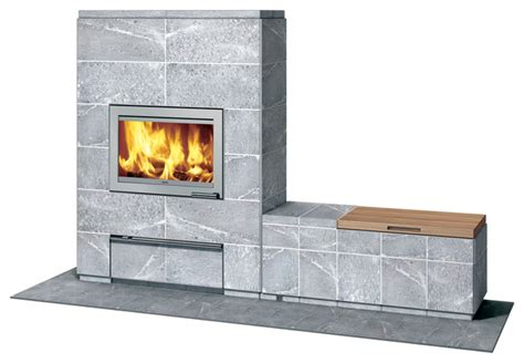 Fireplace Bench by Tulikivi Valkia With Bench Indoor