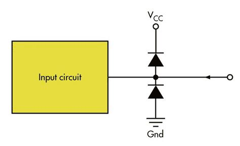 diode as protection voltage limiter generates supplies that improve standard diode technique