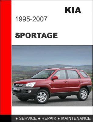 car repair manuals online pdf 2008 kia sportage security system 1995 2007 kia sportage factory service repair manual download man